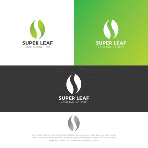 Leaf Stylish Logo Design Template