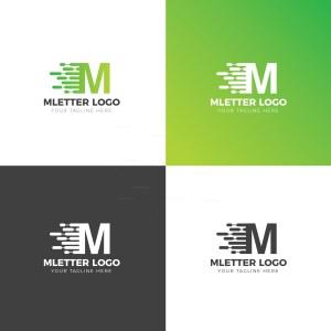 M Letter Creative Logo Design Template