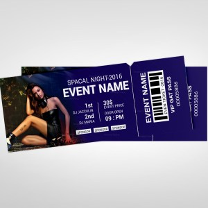 Party Event Ticket Design Template