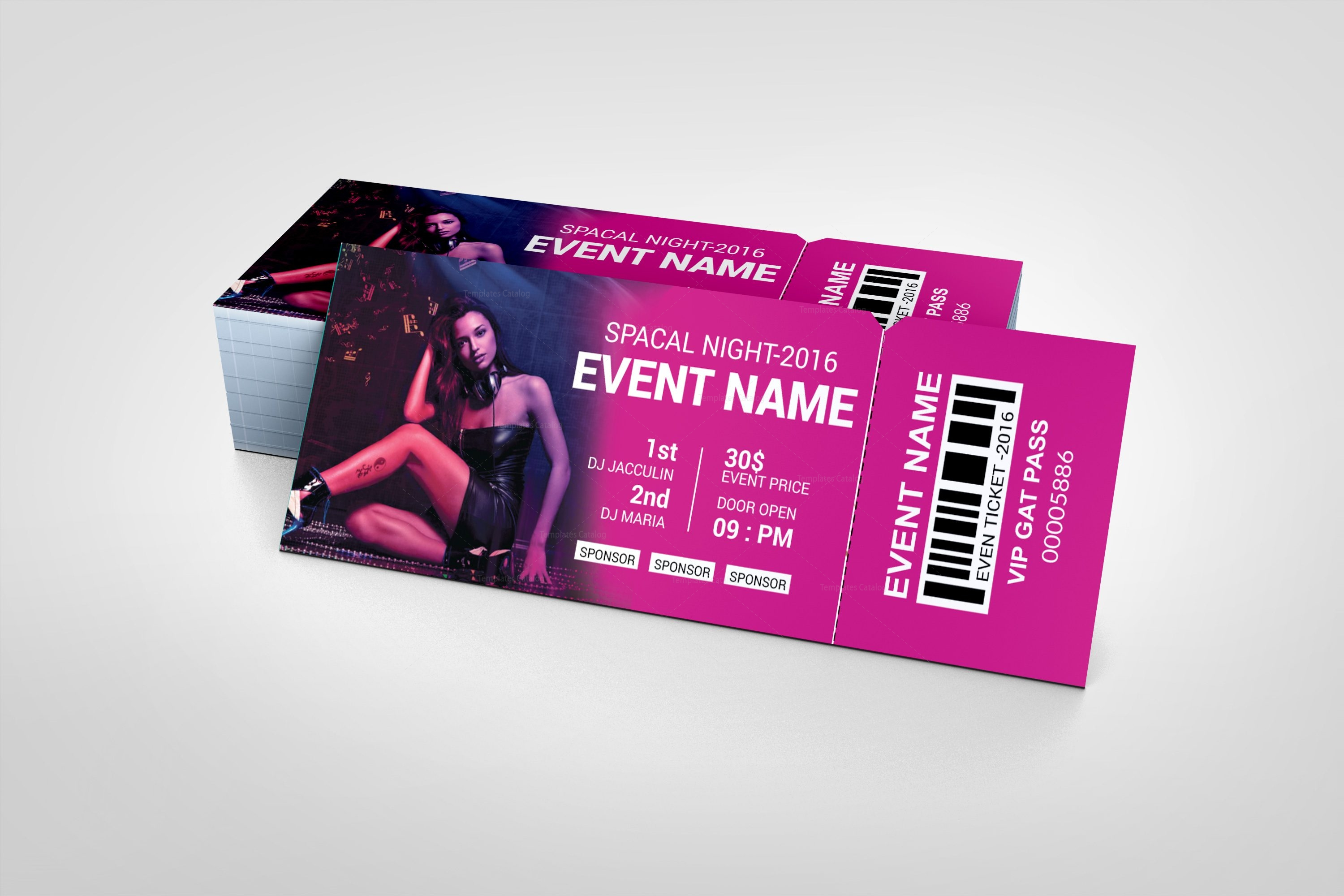 party event ticket design template 001979