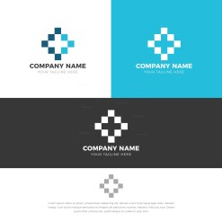Pixel Logo Design Template