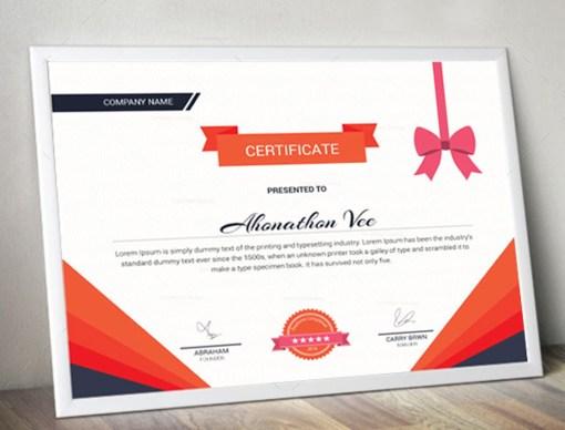 Premium Certificate Design Template