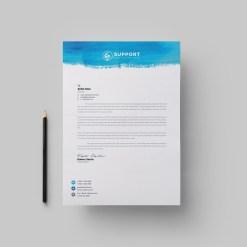 Serenity Corporate Letterhead Design Template