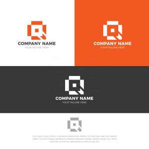 Square Stylish Logo Design Template