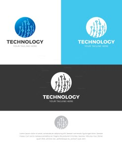 Technology Stylish Logo Design Template