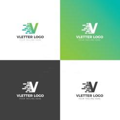 V Creative Logo Design Template