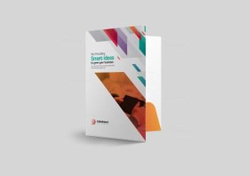 Vibrant Presentation Folder Design Template