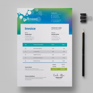 Commercial Invoice Design Template