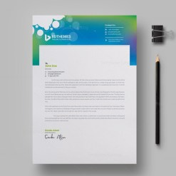 Commercial Letterhead Design Template