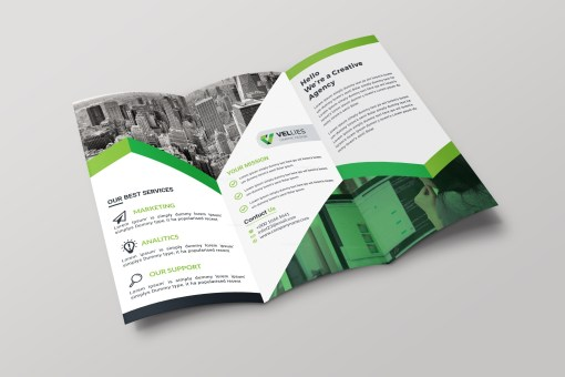 EPS Professional Tri-fold Brochure Design Template