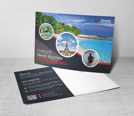 EPS Travel Postcard Design Template