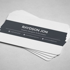 Minimal Retail Business Card Design