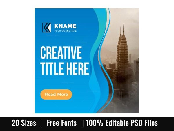 Wave Creative Company Web Banner Set