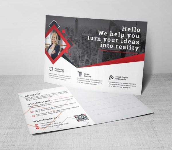 Attorney Corporate Postcard Template