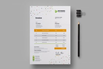 Catering Invoice Design Template