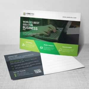 Computer Postcard Design Template