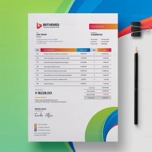 Consulting Invoice Design Template