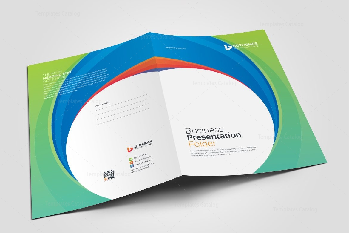 Consulting Presentation Folder Template 002322