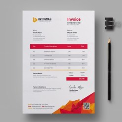 Education Invoice Design Template
