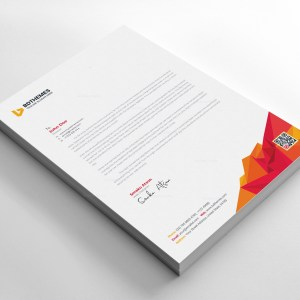 Education Letterhead Design Template