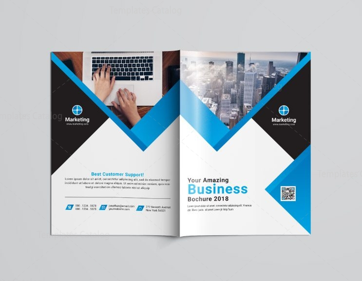 Hr Business Bi Fold Brochure Template 002385 Template Catalog