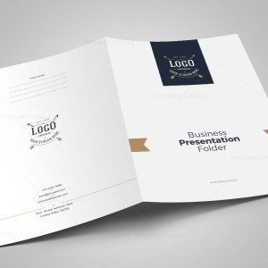 Luxury Presentation Folder Template