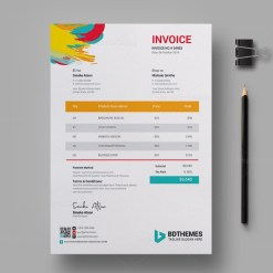 Retail Invoice Design Template
