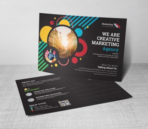 Tourism Corporate Postcard Template