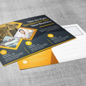 Transport Corporate Postcard Template