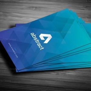 Blue Vertical Business Card