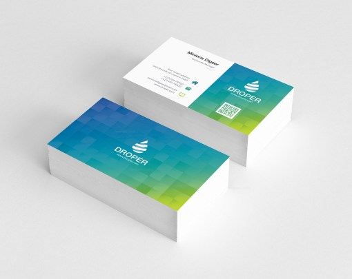 Square Shapes Business Card Design