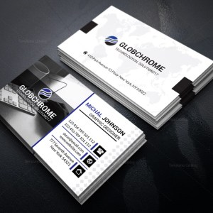 World Map Business Card Design