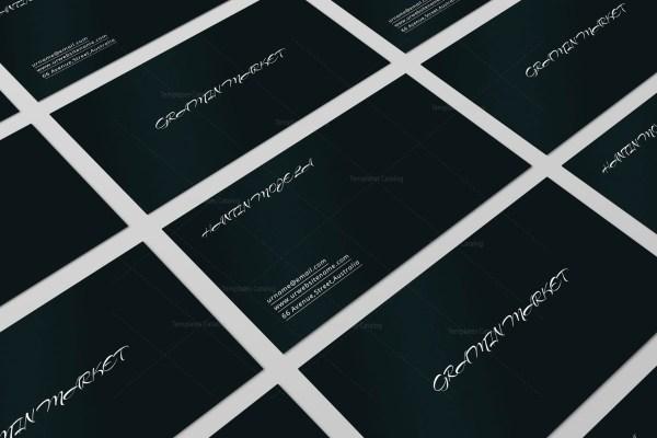 Black Simple Business Card Design
