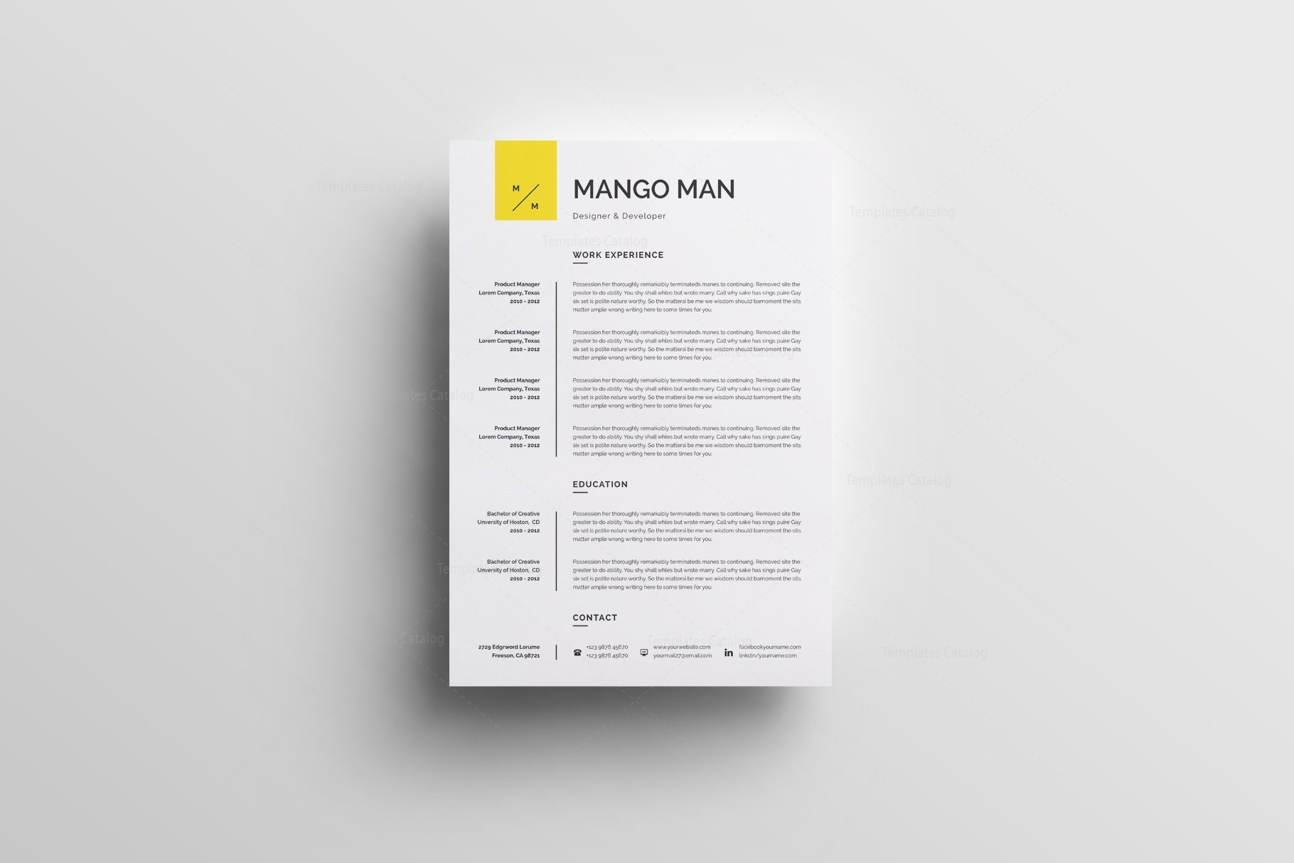 Classic Printable Resume Templates 002550