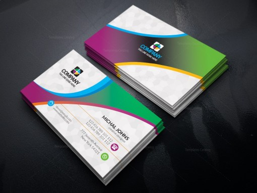 Colorful Print Business Cards