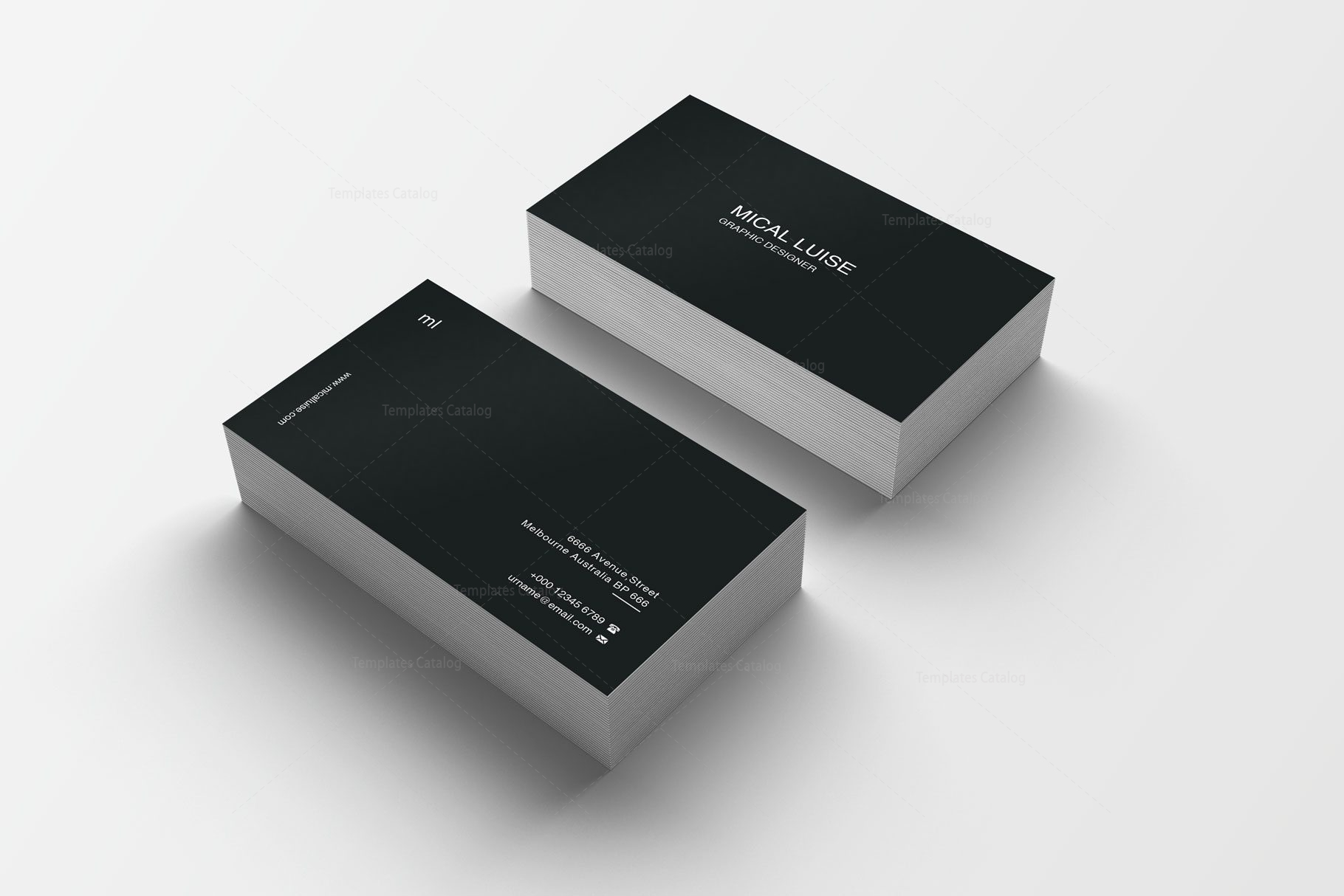 Plain Print Business Card Design