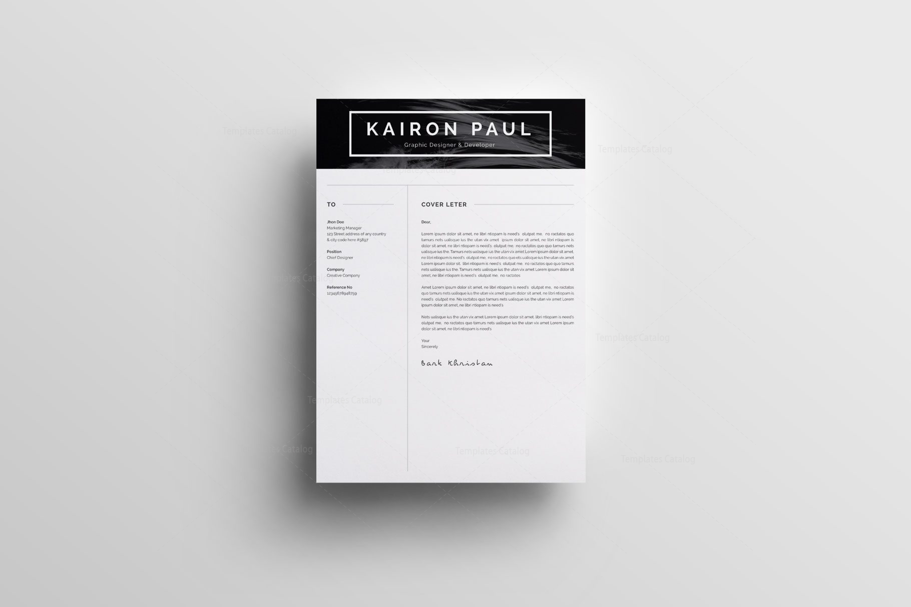 Resume Templates with Simple Design