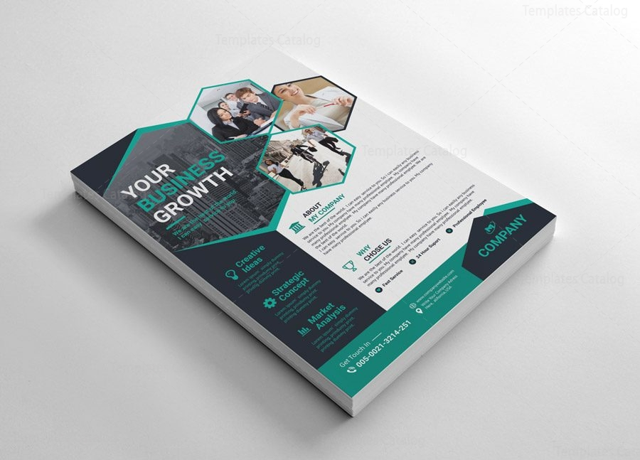 Modern Flyer Templates with Pentagon Shapes