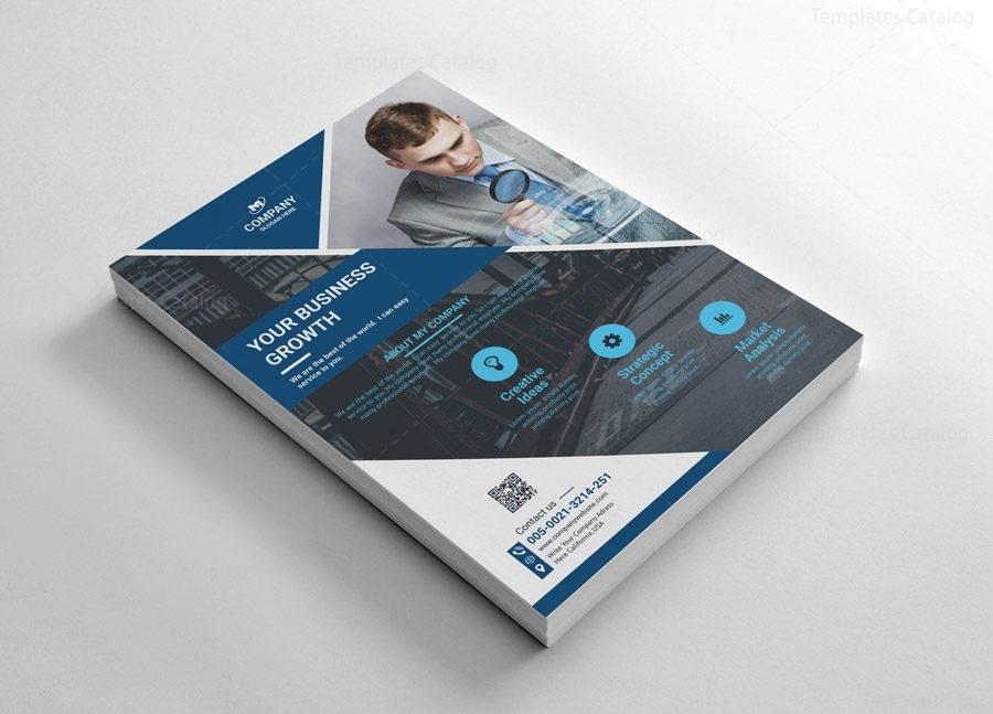 simple flyer templates design 002613