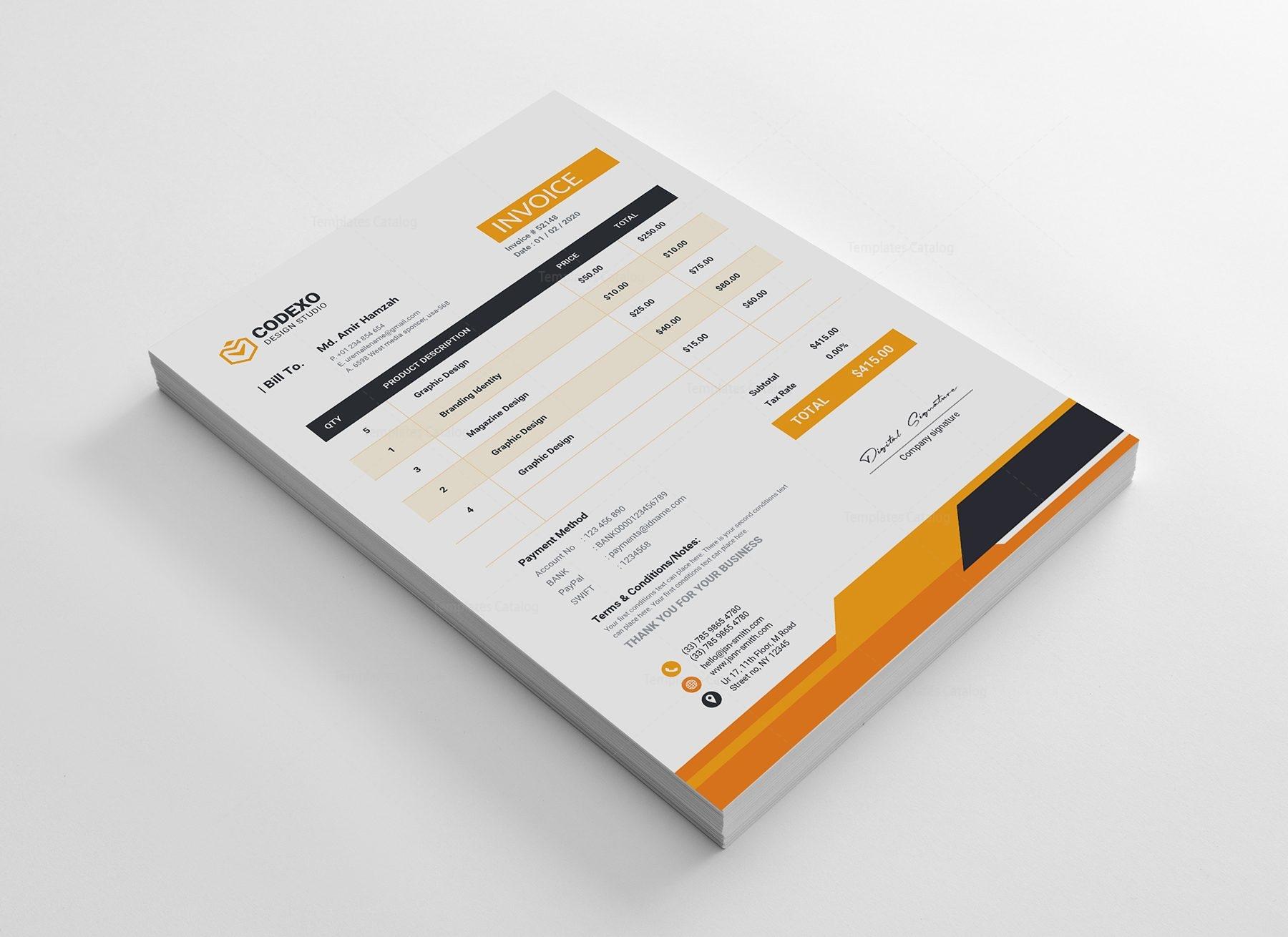 Creative Invoice Design