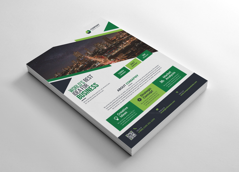 simple professional flyers design 002712