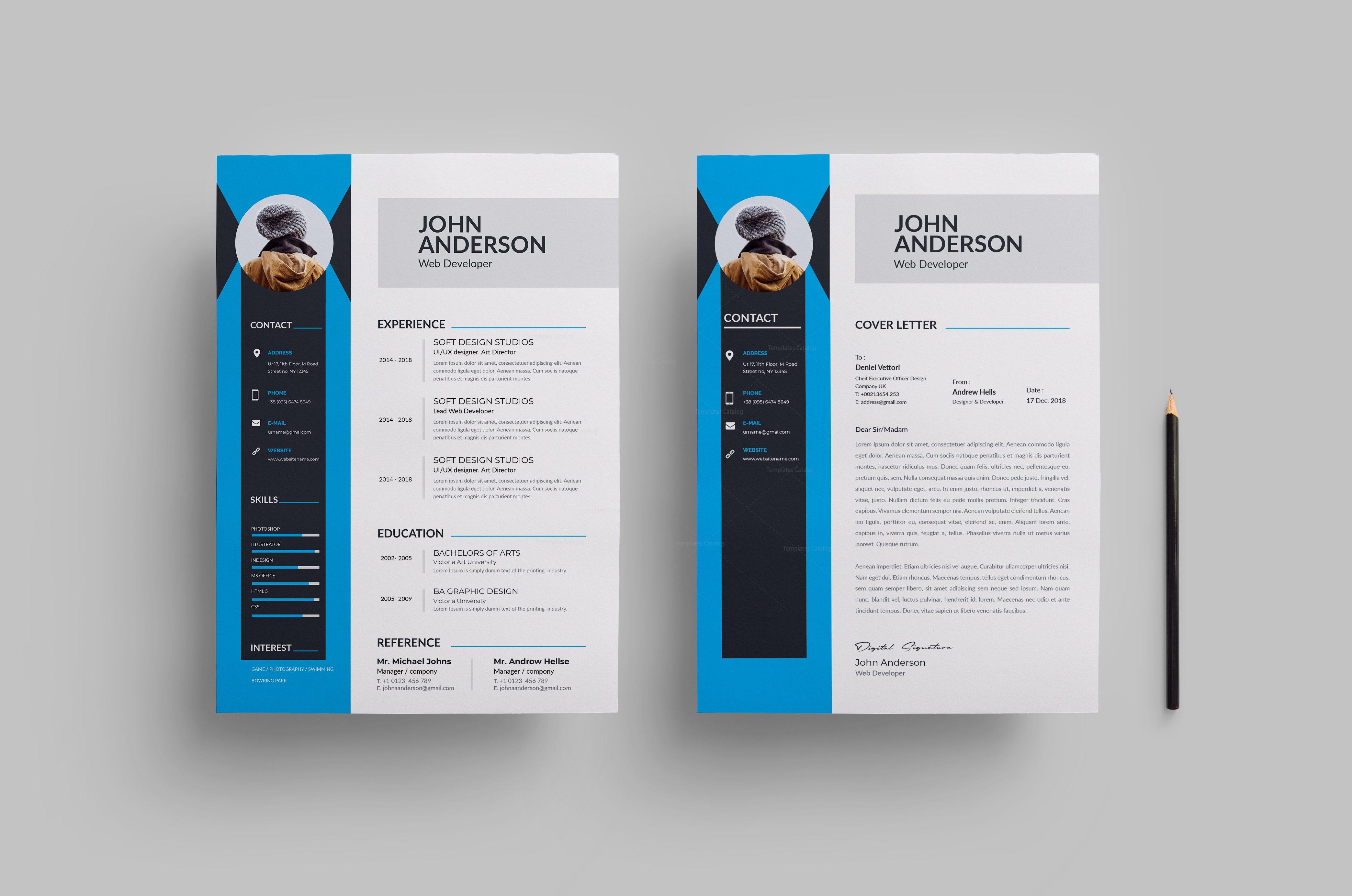 Clean Modern Resume Design 002742 Template Catalog