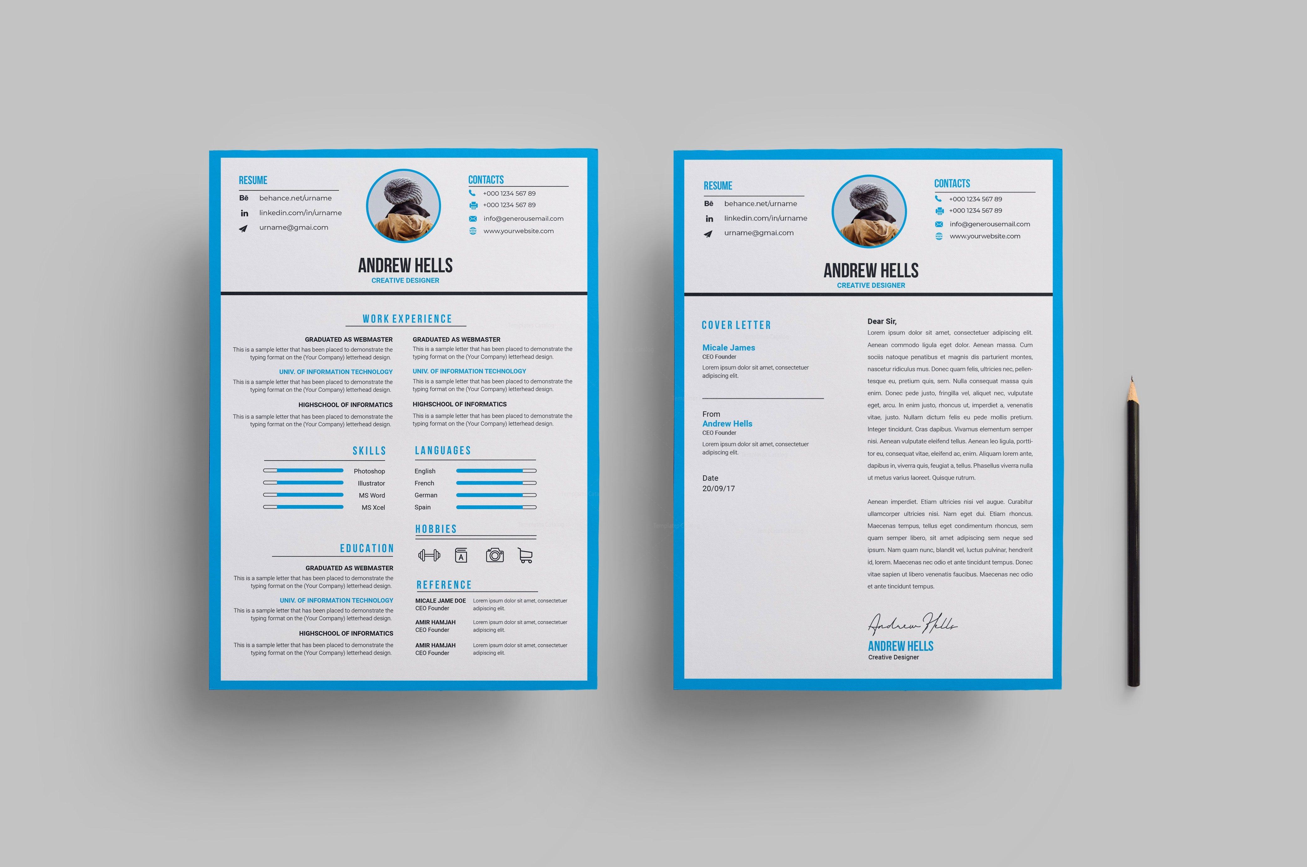 Minimalist Stylish CV Design 002809