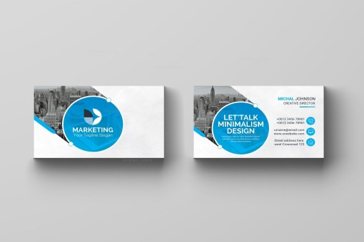 PSD Marketing Business Card