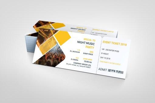 Best PSD Event Ticket Templates