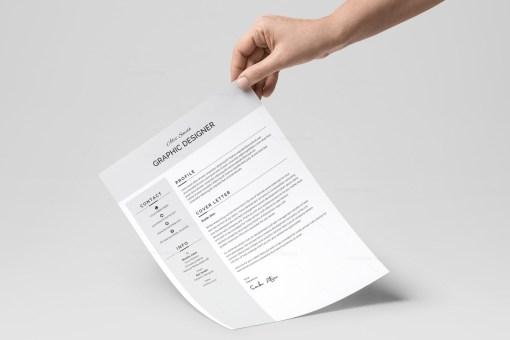 Grey Resume Design Template