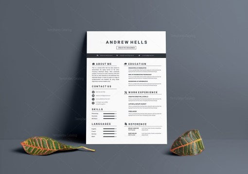 Minimalist Vector Resume Template
