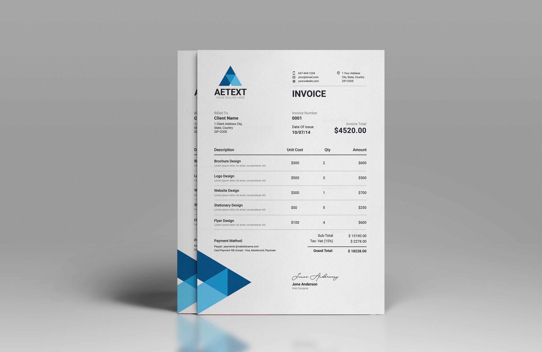 Modern Vector Invoice Template 002956 Template Catalog