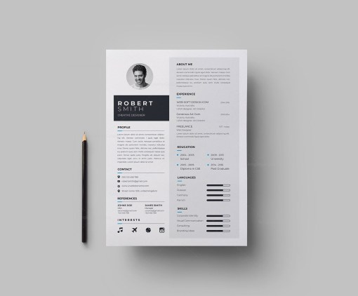 A4 Elegant CV Template