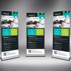 PSD Roll-Up Banner Design